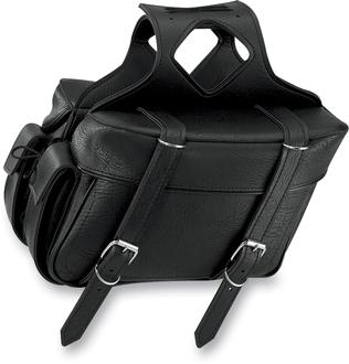 【サドルバッグ】 All American Rider エクストララージ ボックススタイル スラントサドルバッグ リアポケット付き (プレーン) ハーレーパーツ