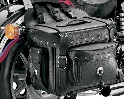 【サドルバッグ】 All American Rider XXXL ボックススタイル デタッチャブルサドルバッグ (リベット) ハーレーパーツ