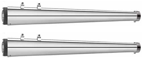 【マフラー】※送料無料※SUPERTRAPP スリップオンマフラー ツーリングモデル用 (メガホン/スラッシュカット) ハーレーパーツ
