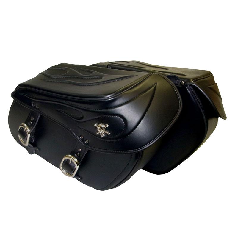【bsf-001-sa】 Xross LARGE DOUBLE サイドバッグ ダブルバッグ BSFシリーズ ブラック ハーレーパーツ