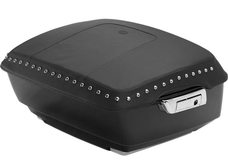 【35160197】 ツアーパック リッドカバー:クロームスタッズ付き/2014年以降ツーリングモデルでキングツアーパック装着車に適合