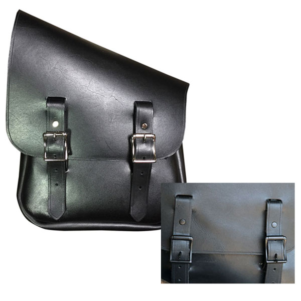 【35011225】 HALF & HALF スイングアームバッグ 左側/ブラックバックル ハーレーパーツ