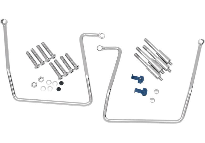 【35010258】 サドルバッグ サポートブラケット 1991~17年ダイナモデルに適合 (但しFLD、2013年以降FXDB、2009年以降FXDWGは除く) rear-mount design ハーレーパーツ