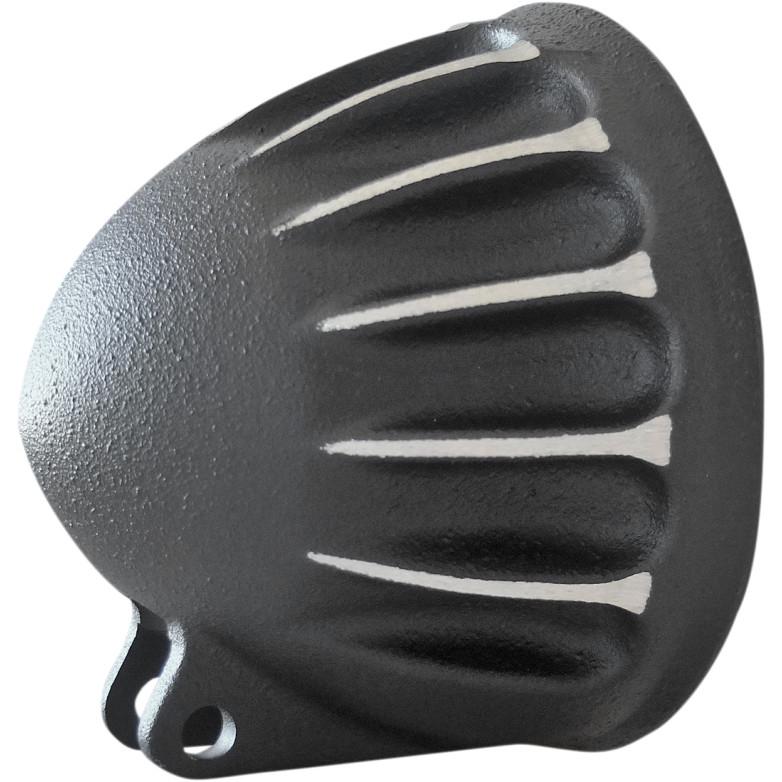 【20011395】 VITAMIN-B ヘッドライトハウジング ブラックカット ハーレーパーツ