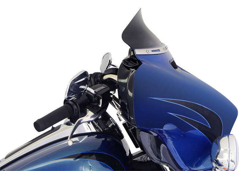【23100571】 FLARE ウインドシールド 2014年以降FLHT、FLHXモデル用 ブラック 5インチ (約13cm)  ハーレーパーツ