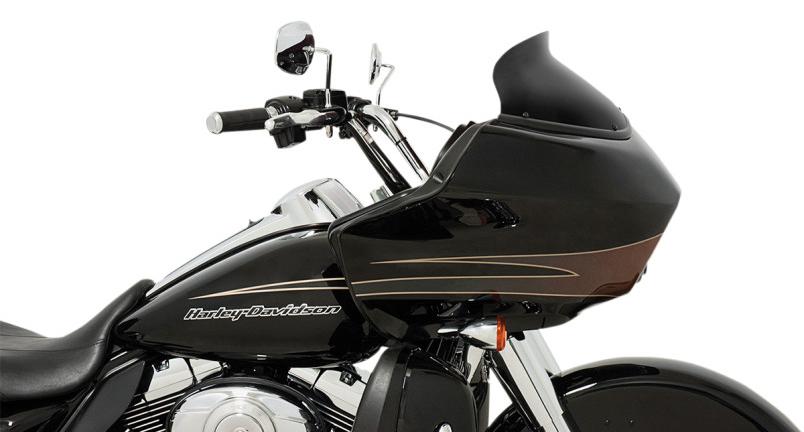 【23100615】 SPOILER ウインドシールド 5.5インチ Black opaque ハーレーパーツ
