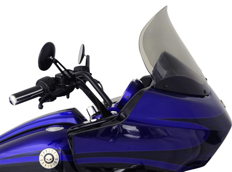 【23100481】 FLARE ウインドシールド FLTR用 ライトスモーク 14インチ ハーレーパーツ