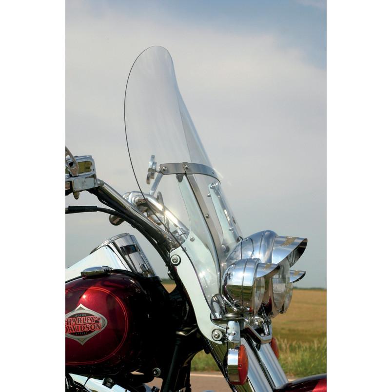 【23100389】 FLARE BILLBOARD ウインドシールド FLSTC FLSTF FLSTN用 クリア 高さ:17インチ 幅26-3/8インチ ハーレーパーツ
