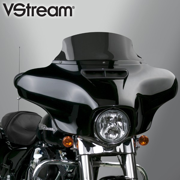 【552514】 VStream ウインドシールド ダークスモーク 高さ:7.5インチ ハーレーパーツ