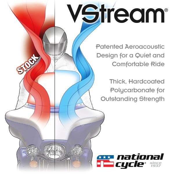 【552515】 VStream ウインドシールド ライトスモーク 高さ:7.5インチ ハーレーパーツ