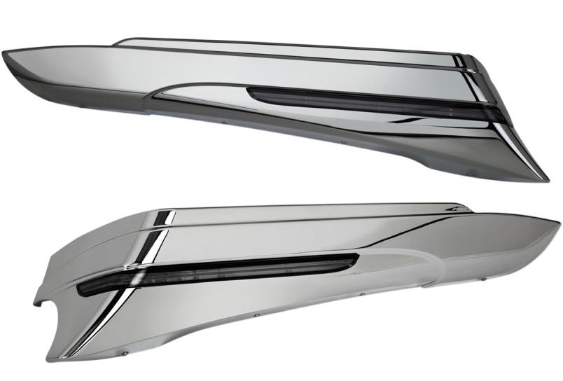【35011202】サドルバッグエクステンション クローム 1997~13年FLHT 2006~09年FLHX ハーレーパーツ