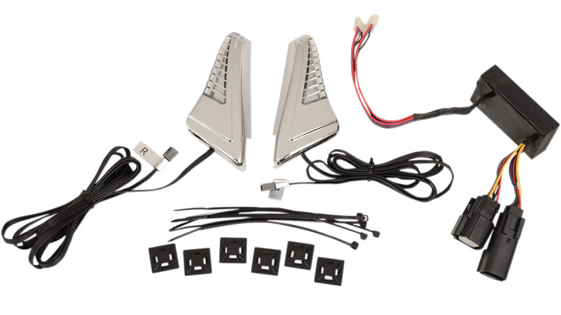 【20401859】 SNAKE EYES ライトキット コントローラー付き クローム ハーレーパーツ