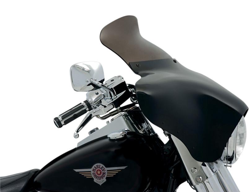 【23500170】SPOILER ウインドシールド BATWING フェアリング用 スモーク 9インチ (228mm) BATWING フェアリング装着車 ハーレーパーツ