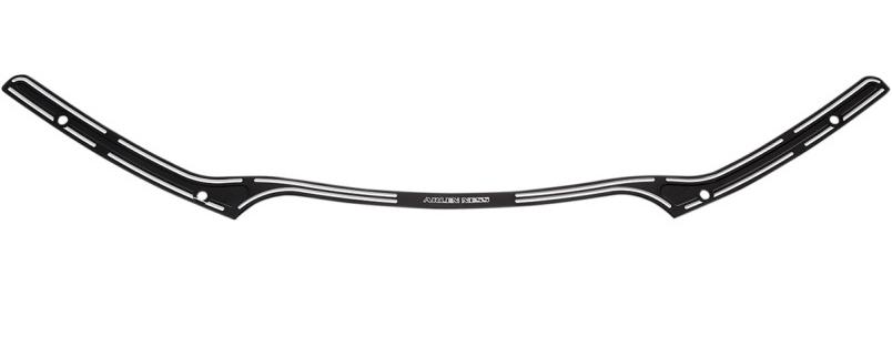 【23500435】 SLOT TRACK ウインドシールドトリム ブラック 2015年以降FLTR ハーレーパーツ