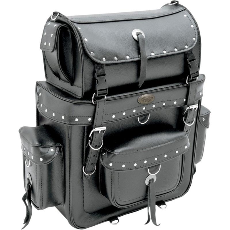 【35150126】 WEEKENDER シーシーバー バッグ リベット ハーレーパーツ