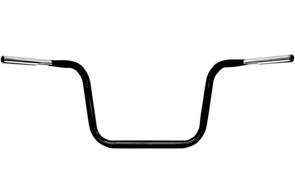 【06011483】 HEFTY エイプハンガー ハンドルバー グロスブラック/12.5インチ ハーレーパーツ