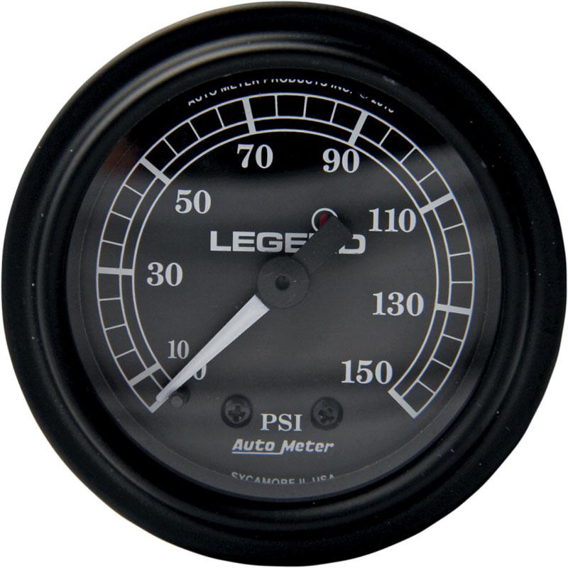 【22120484】フェアリングマウント LEDバックライト付 PSI ゲージ ブラック ハーレーパーツ