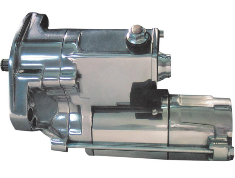 【21100567】SLUGGER 1.8KWスターターモーター クローム/ポリッシュ 1990~93年ビッグツイン ハーレーパーツ
