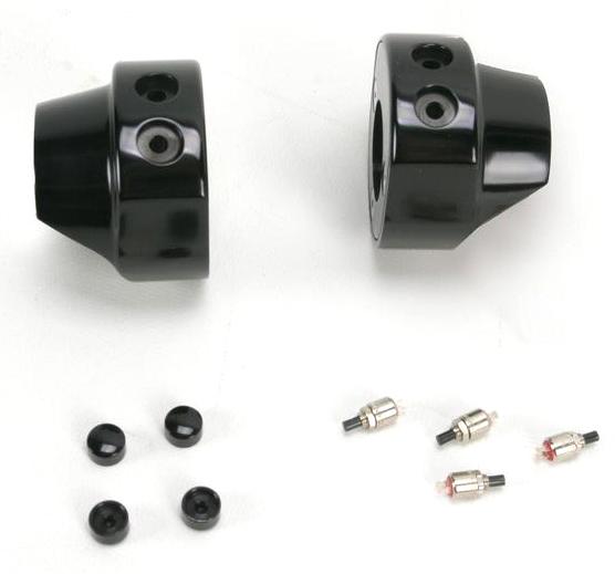【06160089】 HAWG HALTERS スイッチハウジング 4ボタン / ブラック ハーレーパーツ