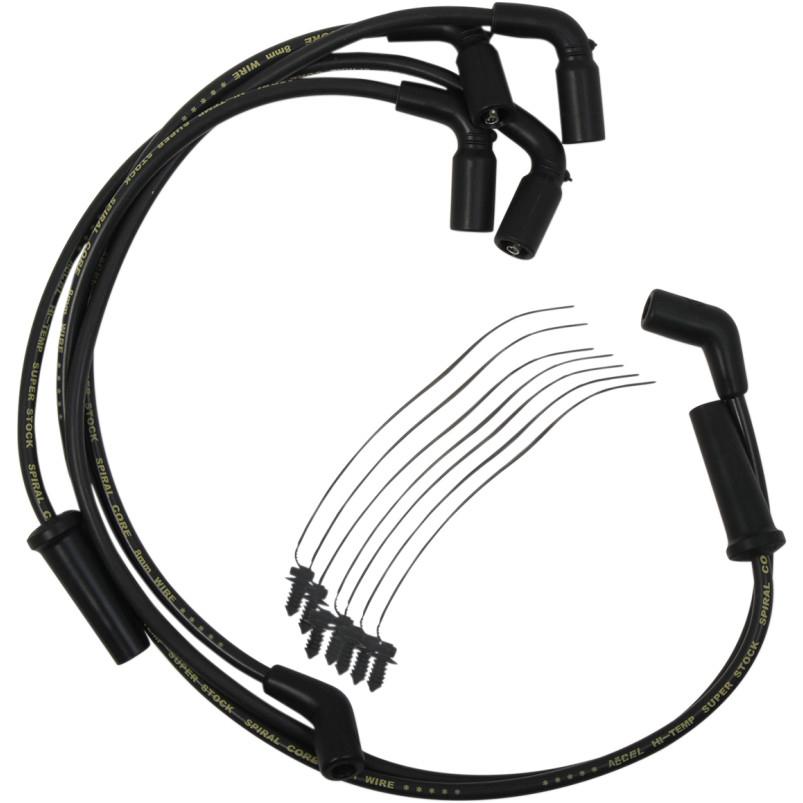 【21040326】 ACCEL プラグワイヤー ツーリングモデル ブラック 2017年以降ツーリング トライク ハーレーパーツ
