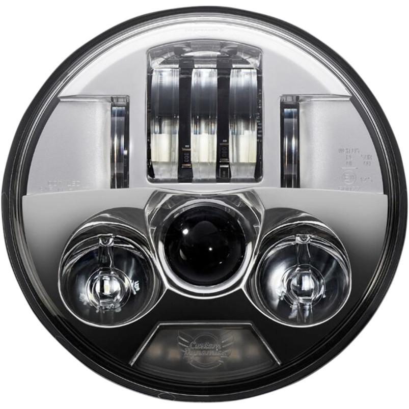 【20011750】 PROBEAM LEDヘッドライト クローム スポーツスター ダイナ FXソフテイル V-RODで5-3/4インチヘッドライト ハーレーパーツ