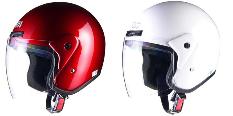 【cr-720】 CROSS CR-720 ジェットヘルメット キャンディーレッド ホワイト ブラック シルバー ガンメタリック