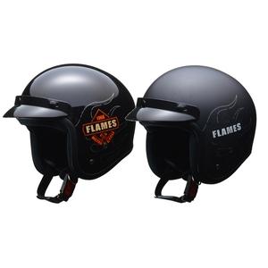 【lflj】 LEAD FLAMES スモールジェットヘルメット ブラック、マットブラック
