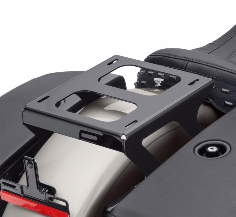 【50300176】 ホールドファスト ソロツアーパックラゲッジ マウンティングラック グロスブラック 2018年以降FLDE、FLHC FLHCS FLSL FXBBでソロシート装着車 ハーレー純正パーツ