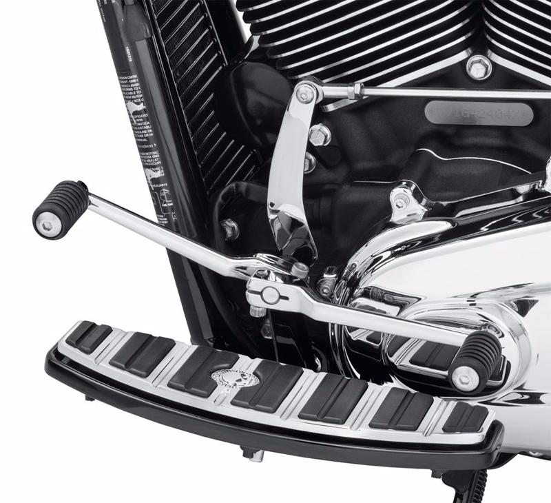 ハーレー純正パーツ 超人気 フットコントロール 33600224 専門店 ヒールシフターレバー 2018年以降FLソフテイルモデルでフットボード装着車