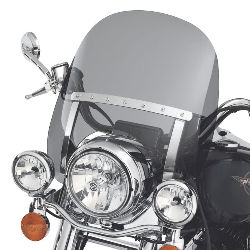 【57357-07】ロードキング デタッチャブル ウインドデフレクター ダークスモーク 高さ533mm×幅544mm ハーレー純正パーツ