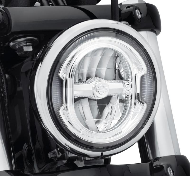 【67700355】 デーメーカー シグネチュア リフレクターLEDヘッドライト 5-3/4インチ クローム ハーレー純正パーツ