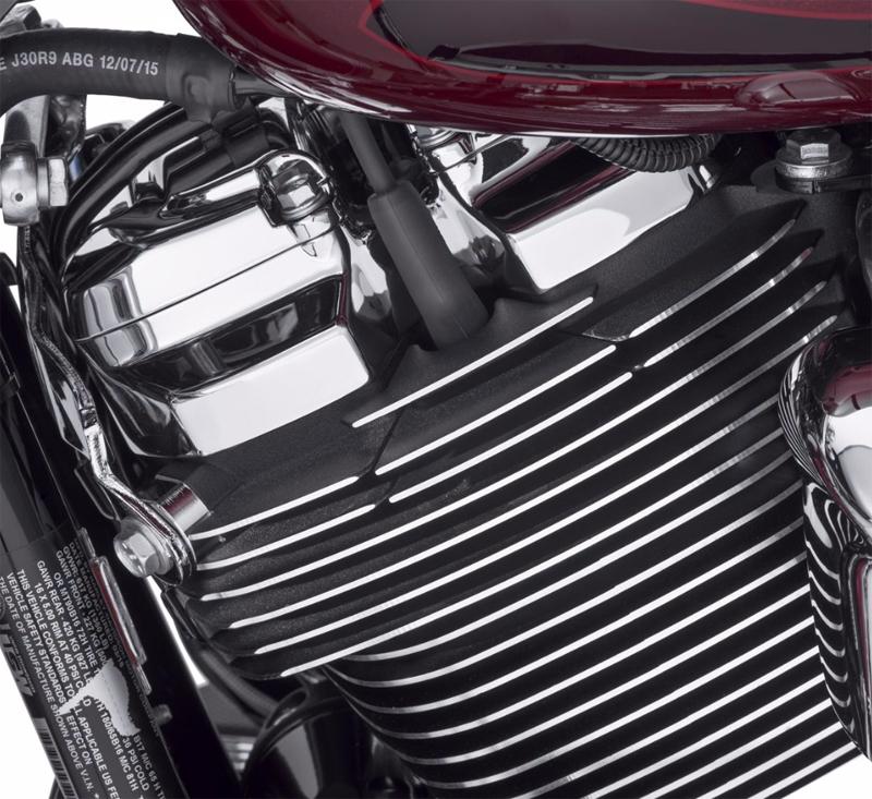 【25800061】 フィン スパークプラグカバー ブラック 2017年以降M-EIGHTエンジン ハーレー純正パーツ