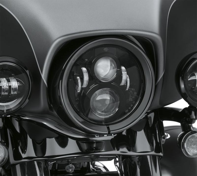 【67700267】 7インチ デーメーカー プロジェクターLEDヘッドランプ ブラック 91~17年FLS/S FLSTC FLSTF/B/BS FLSTN 14年以降ツーリング トライク ハーレー純正パーツ