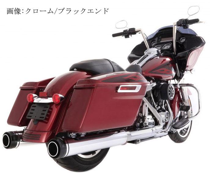 【500-0109】RINEHART MOTOPRO45 4.5インチ スリップオンマフラー ブラック/ブラックエンド 1995~16年ツーリング ハーレーパーツ