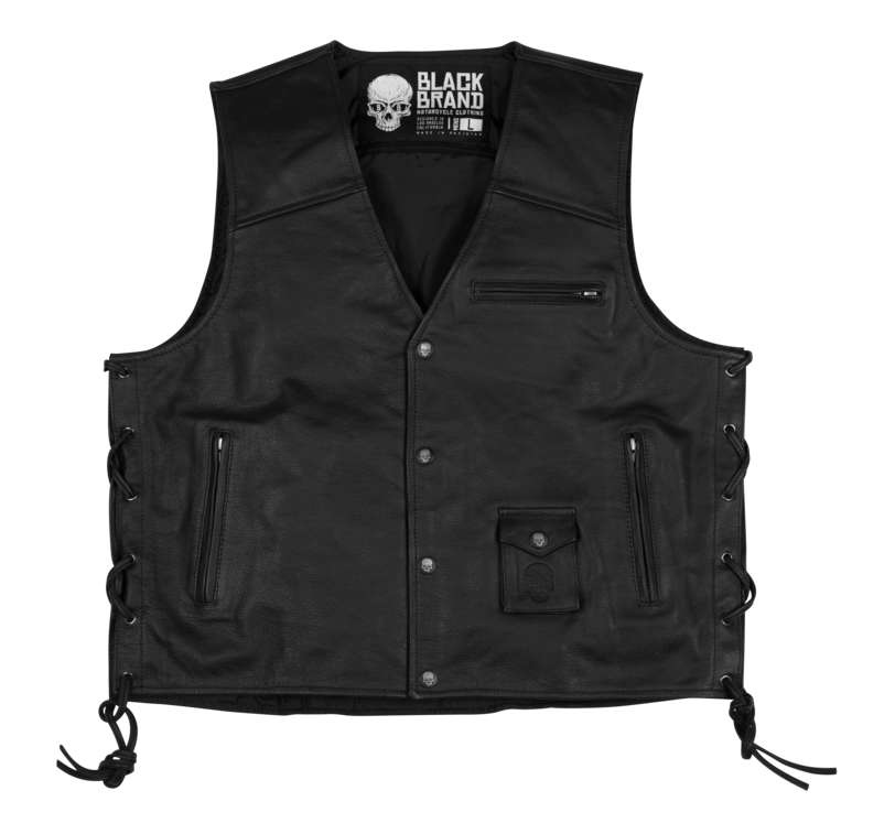 【bb3063】 Axe Leather Vest M/L/XL/2XL ハーレーアパレル
