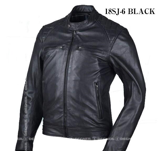 【18sj-6-bk】DEGNER ゴートレザージャケット(18SJ-6) ブラック M/L/XL/2XL ハーレーアパレル