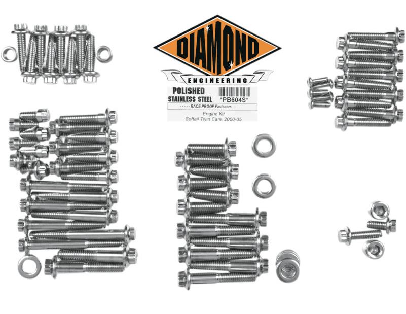 【24010131】 ポリッシュステンレススチール エンジンキット ソフテイル用:2000~06年ソフテイルモデルに適合/12-Pointスタイル