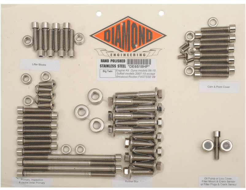 【24010265】 ポリッシュステンレススチール エンジンキット ダイナ用:2006~17年ダイナモデルに適合/OEMスタイル