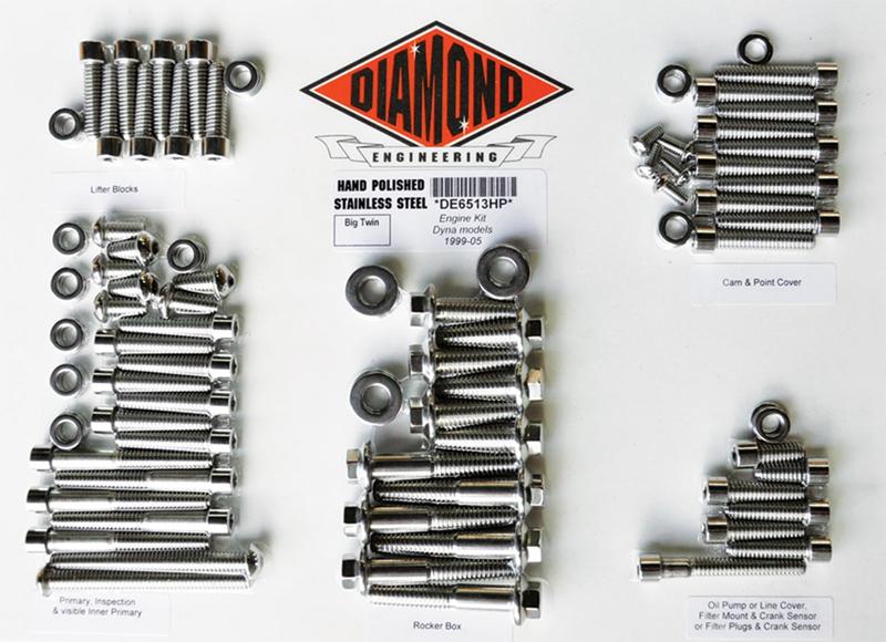 【24010840】 ポリッシュステンレススチール エンジンキット ダイナ用:1999~05年ダイナモデルに適合/OEMスタイル