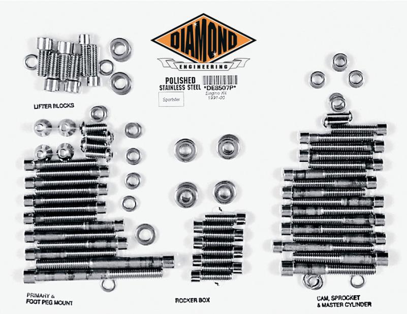 【24010266】 ポリッシュステンレススチール エンジンキット スポーツスター用:1991~03年スポーツスターモデルに適合/OEMスタイル