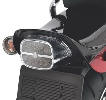 【68086-08】 LEDテイルライト/バー&シールドロゴ/スモークレンズ&クロームハウジング ハーレー純正パーツ