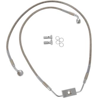 【17413795】 フロントブレーキラインキット ダイナ用 ABSモデル/48cm/95cm (+10インチ) ハーレーパーツ