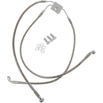 【17413829】 フロントブレーキラインキット ダイナ用 ABSモデル/54cm/78cm (+8インチ) ハーレーパーツ