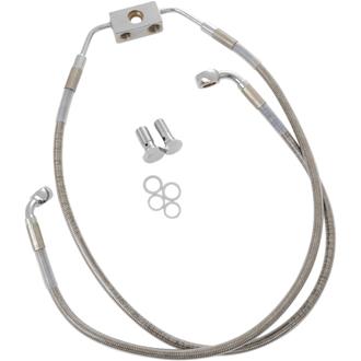 【17413841】 フロントブレーキラインキット ダイナ用 ABSモデル/55cm/80cm (+8インチ) ハーレーパーツ