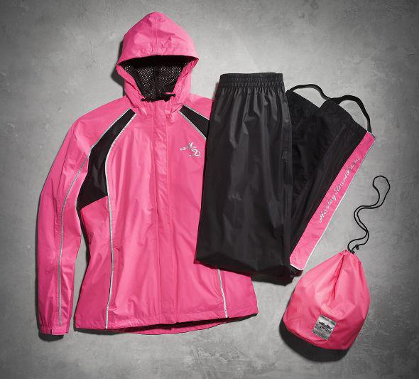 【98362-15vw】Hi-Vis Reflective Rain Suit ピンク ハーレーアパレル