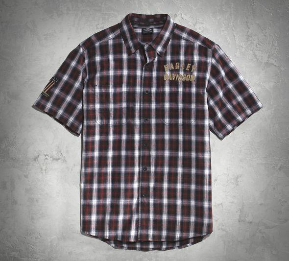 【99011-16vm】Genuine Classics #1 Plaid Shirt S/M/L/XL ハーレーパーツ