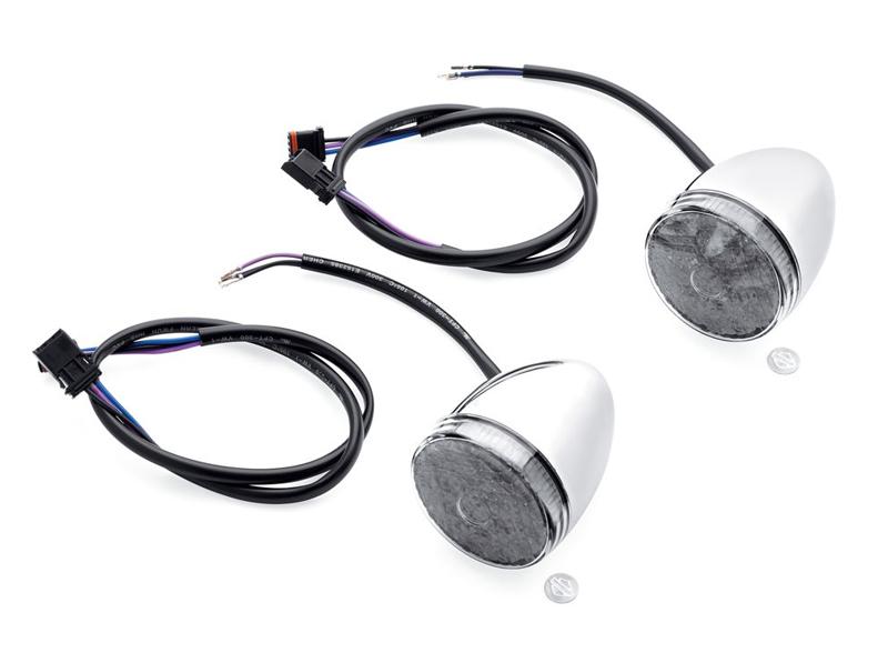 【67800478】 LEDブレットターンシグナルキット クローム/スモークレンズ ハーレー純正パーツ