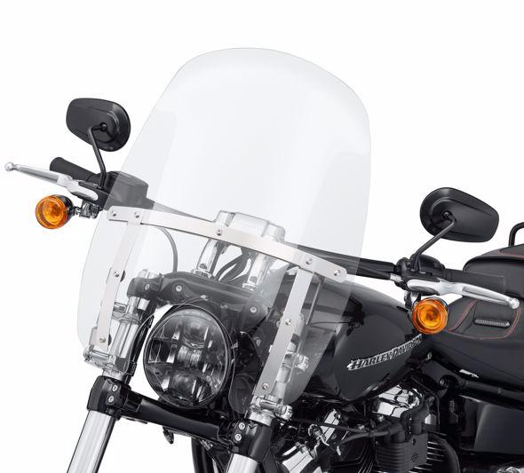 【57400326】 ウインドスプリッター クイックリリース コンパクトウインドシールド クリア 高さ594mm×幅447mm ハーレー純正パーツ