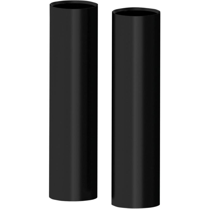 【04110071】 アッパーフォークカバー:SMOOTH/グロスブラック ハーレーパーツ