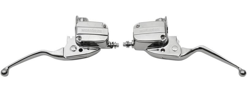 【06100798】 クローム ブレーキ&クラッチコントロールキット 2008年以降ツーリングモデル用 ハーレーパーツ